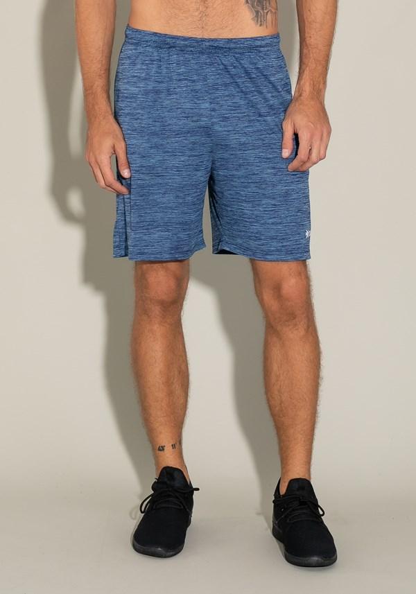 Bermuda for men com bolso e cadarço mescla azul
