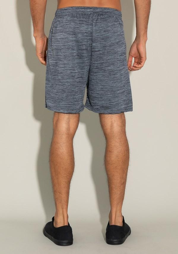 Bermuda for men com bolso e cadarço mescla cinza