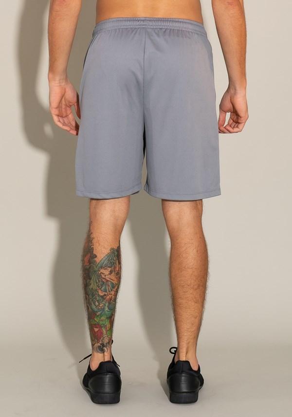 Bermuda for men com cadarço cinza