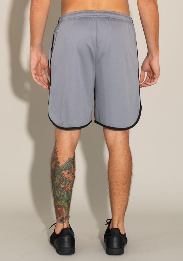 Bermuda for men com detalhes laterais, bolso frontal e elástico cinza