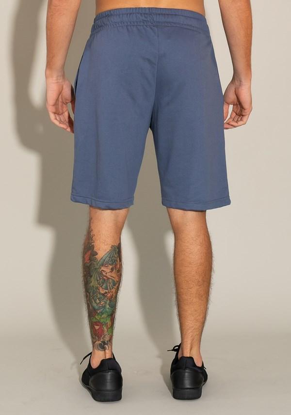 Bermuda for men moletinho com bolso lateral e cadarço azul marinho