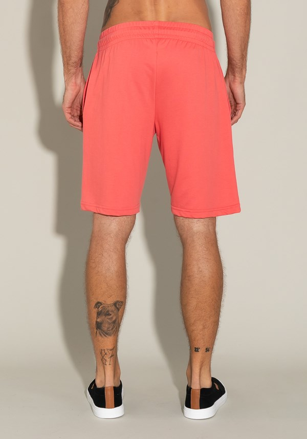 Bermuda for men moletinho com bolso lateral e cadarço coral