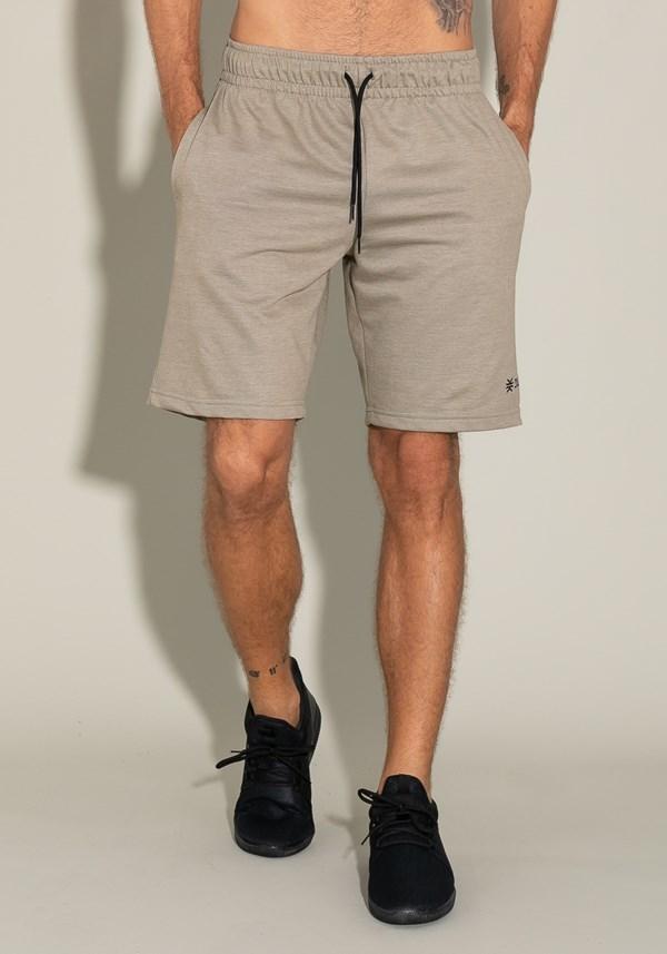 Bermuda for men moletinho com bolso lateral e cadarço verde