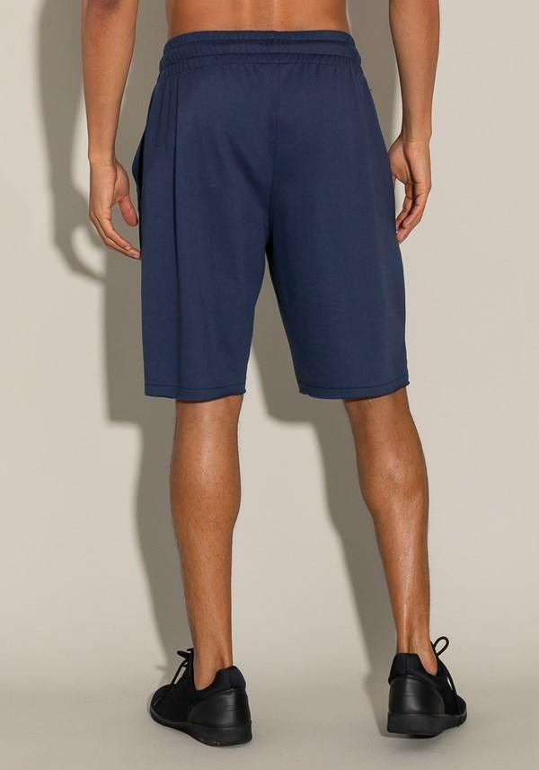 Bermuda for men moletinho com elástico e bolso lateral azul marinho