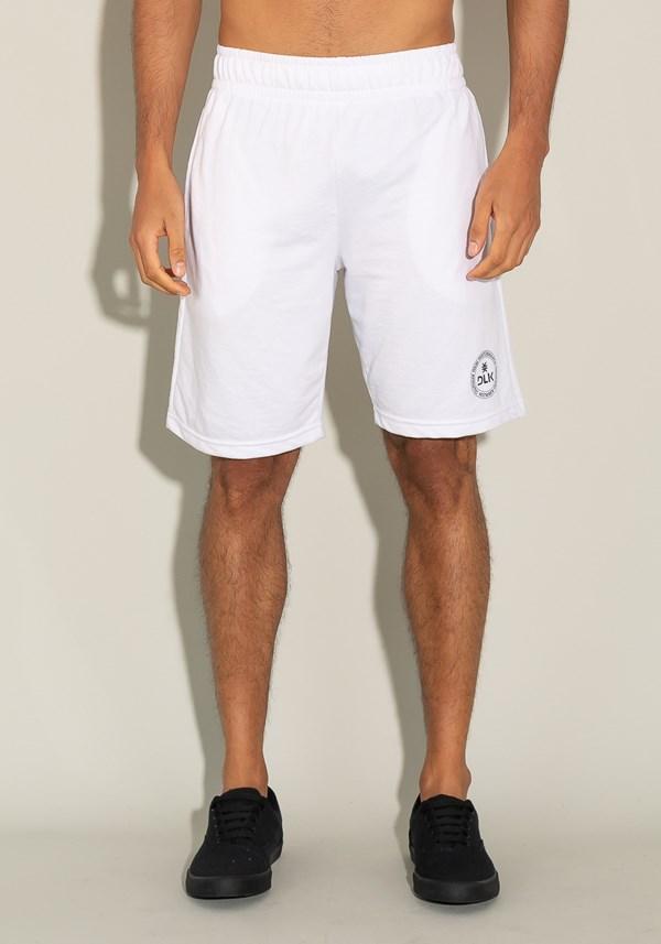 Produto Bermuda for men moletinho com elástico e bolso lateral branco