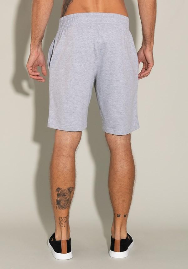 Bermuda for men moletinho com elástico interno e bolso lateral mescla