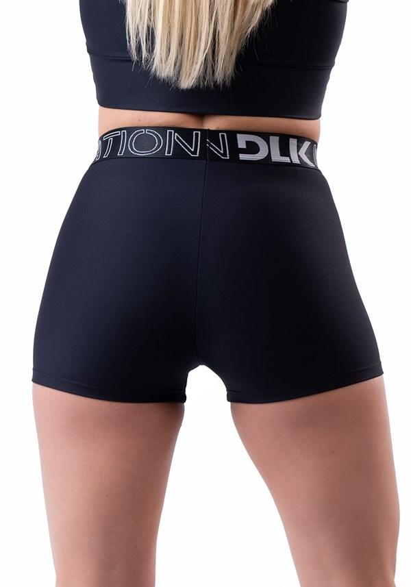 Bermuda nation com elástico na cintura preto
