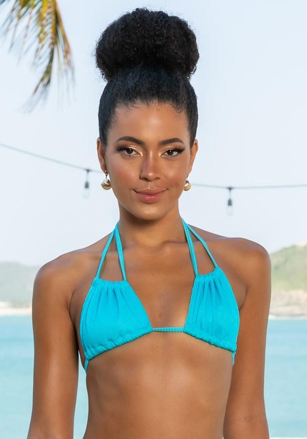 Biquini top sem bojo multiuso beach azul