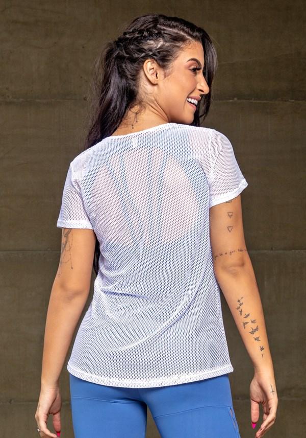 Blusa branca tela básica