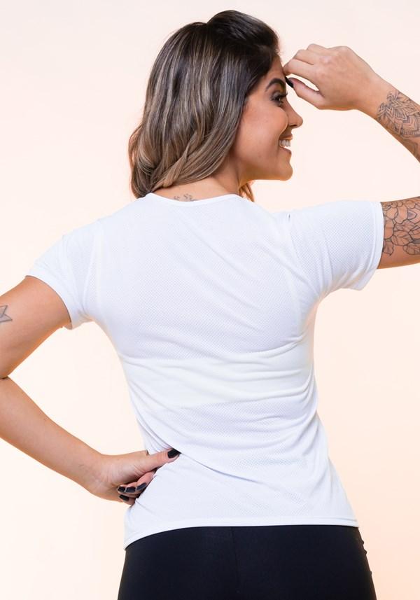 Blusa dryfit branca básica