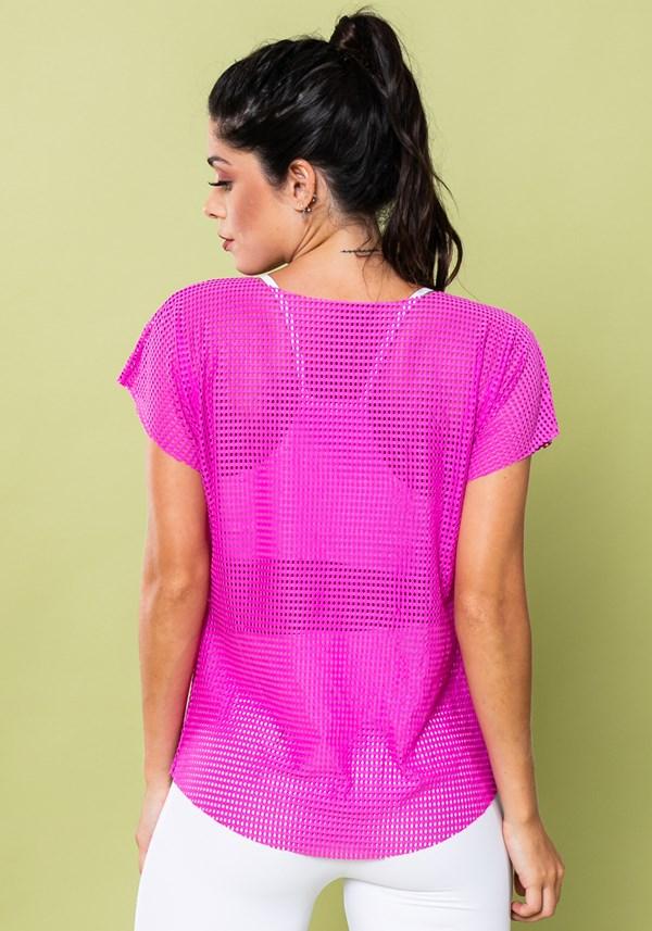 Blusa energy em tela rosa