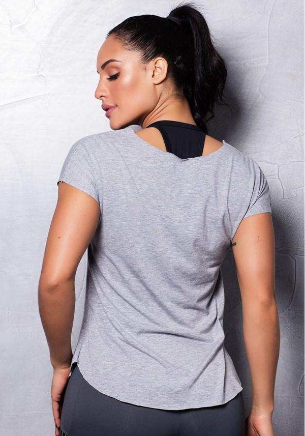 Blusa mescla fitness com silk