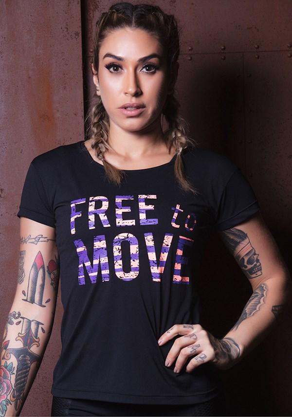Blusa preta free to move