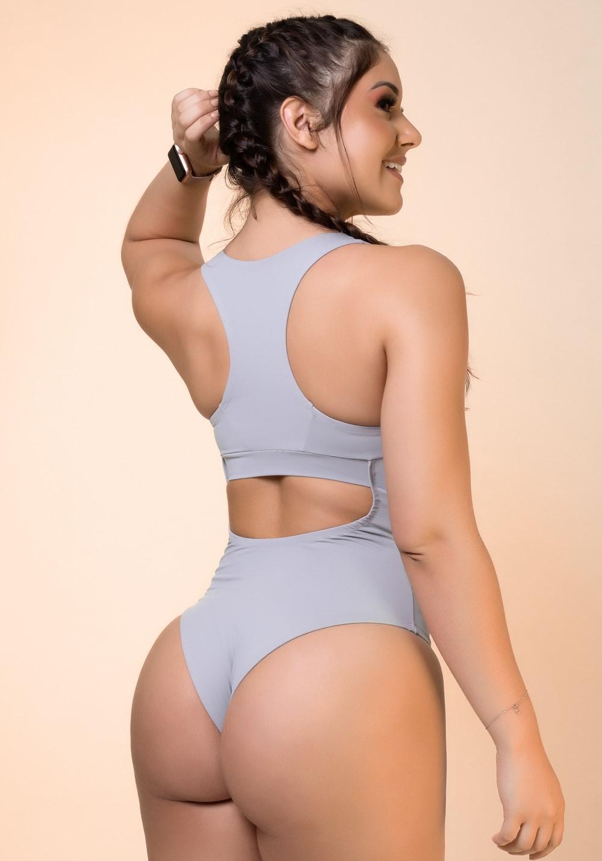 Body cinza nadador básico