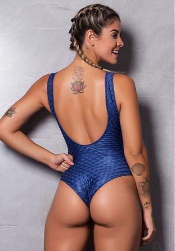 Body cirrê alto relevo azul