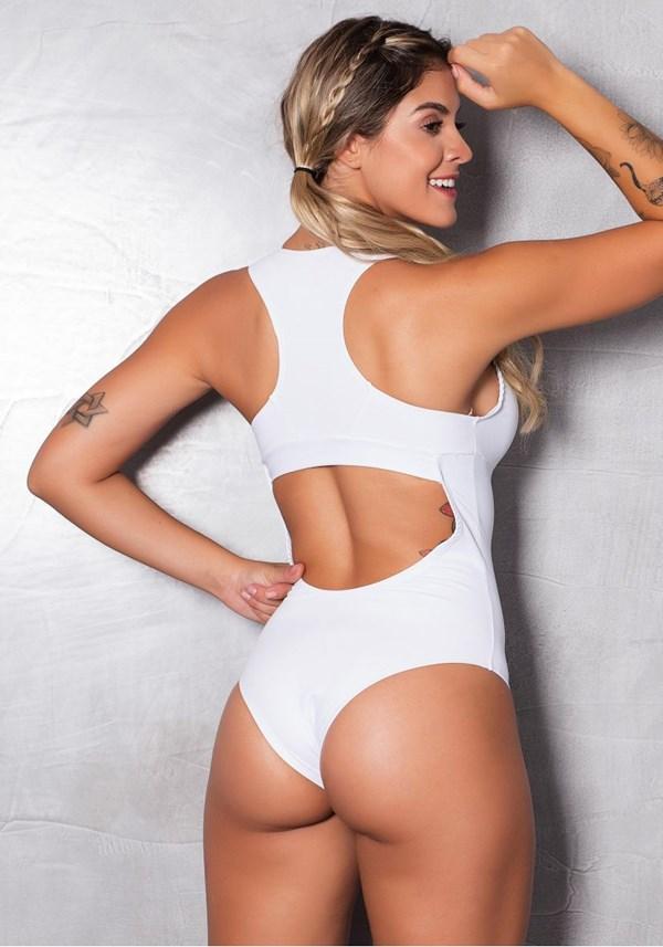 Body poliamida branco