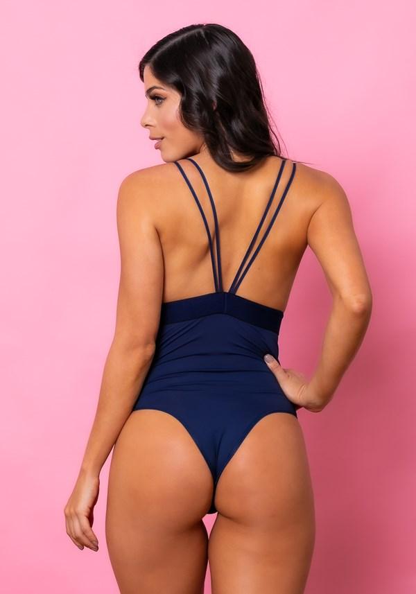 Body sem bojo intimate com elástico e renda azul marinho