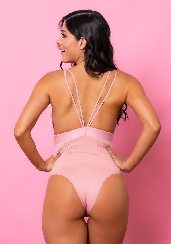 Body sem bojo intimate com elástico e renda rosa