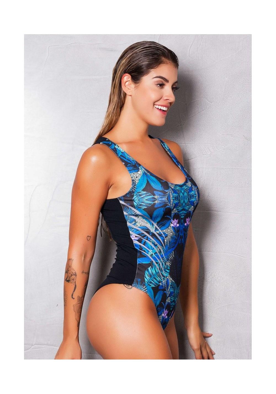 Body sublimado blue flower