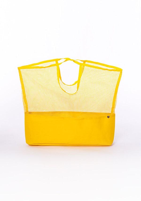 Bolsa sacola de mão dlk beach amarelo