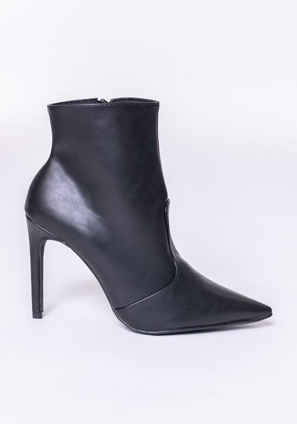 Bota ankle boot shoes preta