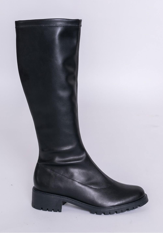 Bota cano longo shoes preta