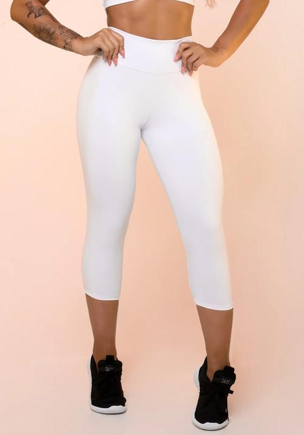 Calça corsário branca básica