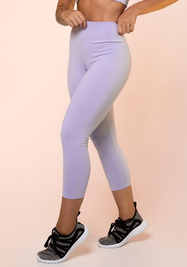 Calça corsário lilás básica