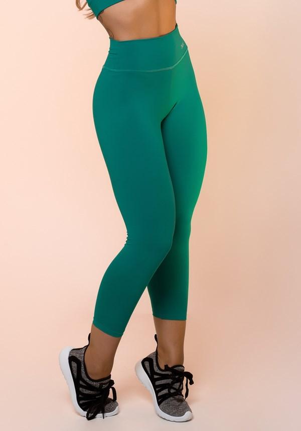Calça corsário verde básica