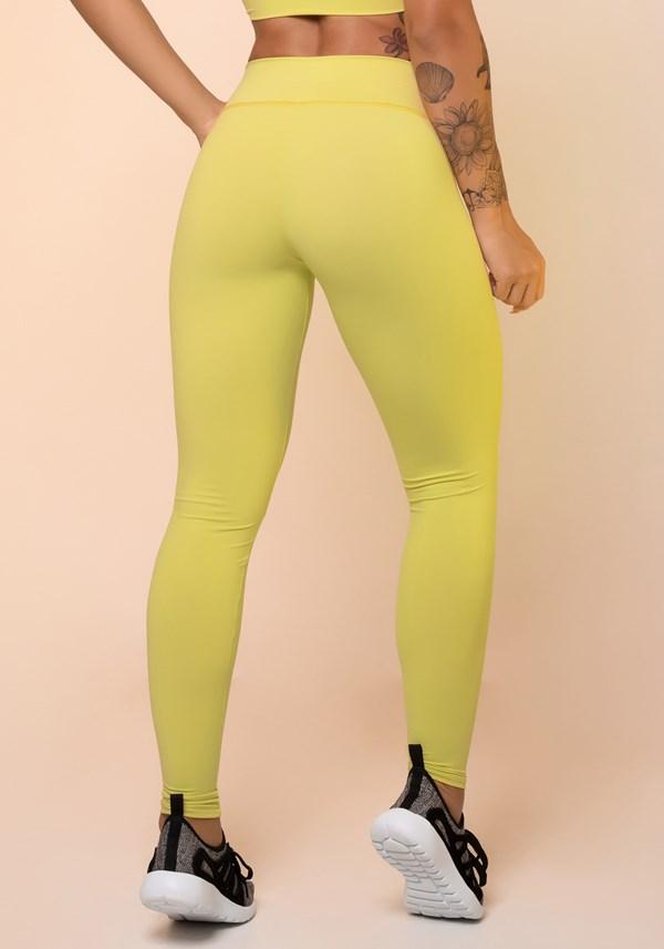 Calça legging amarela básica