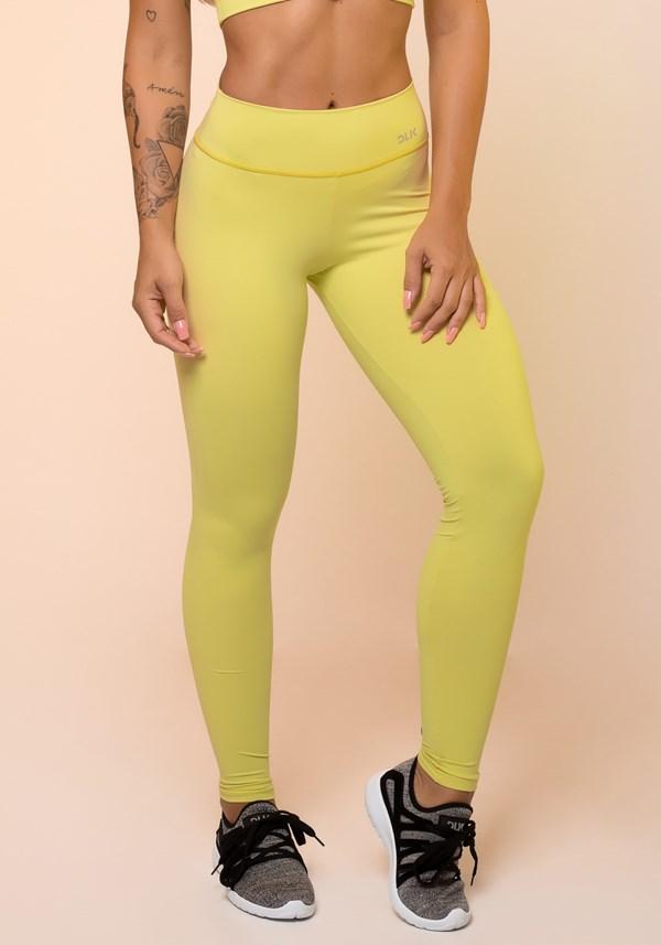 Calça legging amarelo básica