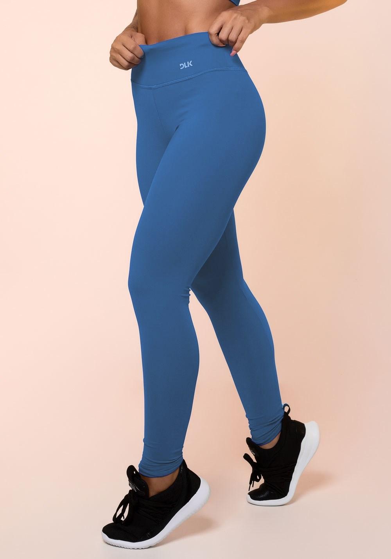 Calça legging azul básica
