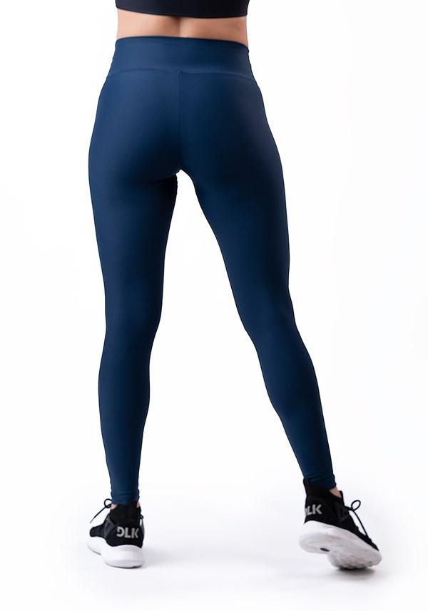 Calça legging azul marinho básica