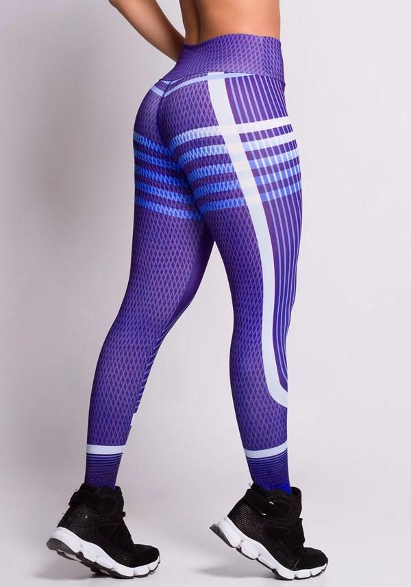 Calça legging blue and purple