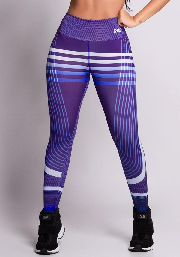 Calça legging blue and purple