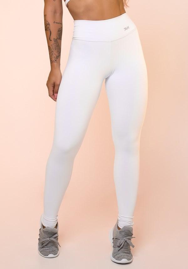 Calça legging branca básica