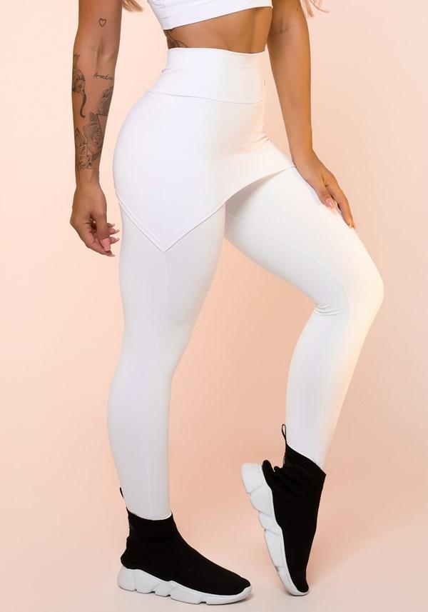 Produto Calça legging branca com tapa bumbum básica
