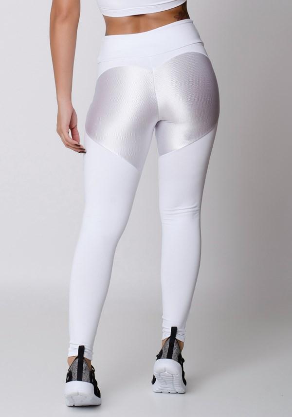 Calça legging branca up basic