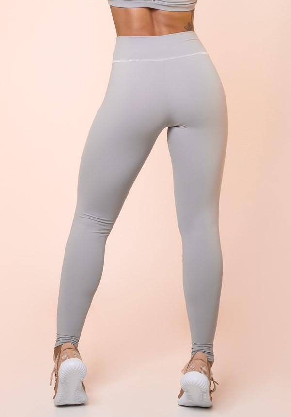 Calça legging cinza básica