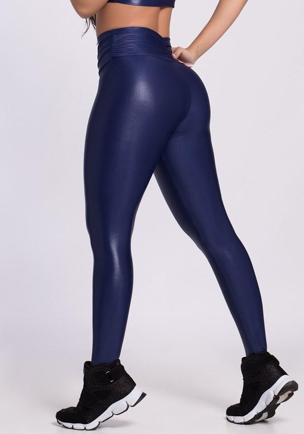 Calça legging cirrê deep blue
