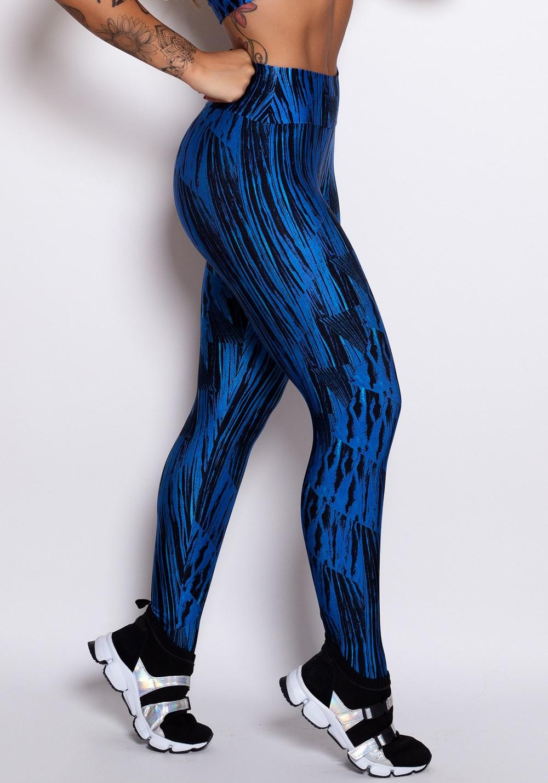 Calça legging cirrê estampado blue spots