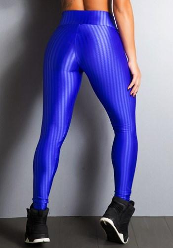 Calça legging cirrê frequency azul