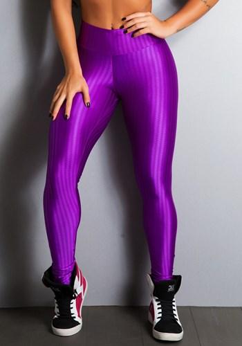 Calça legging cirrê frequency roxa