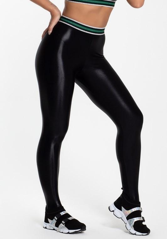 Calça legging cirre preta com elástico glitter - DlkModas 8a3e3d3ce46