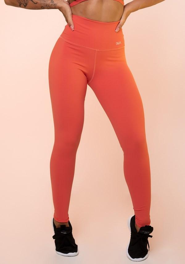Calça legging coral cintura alta básica