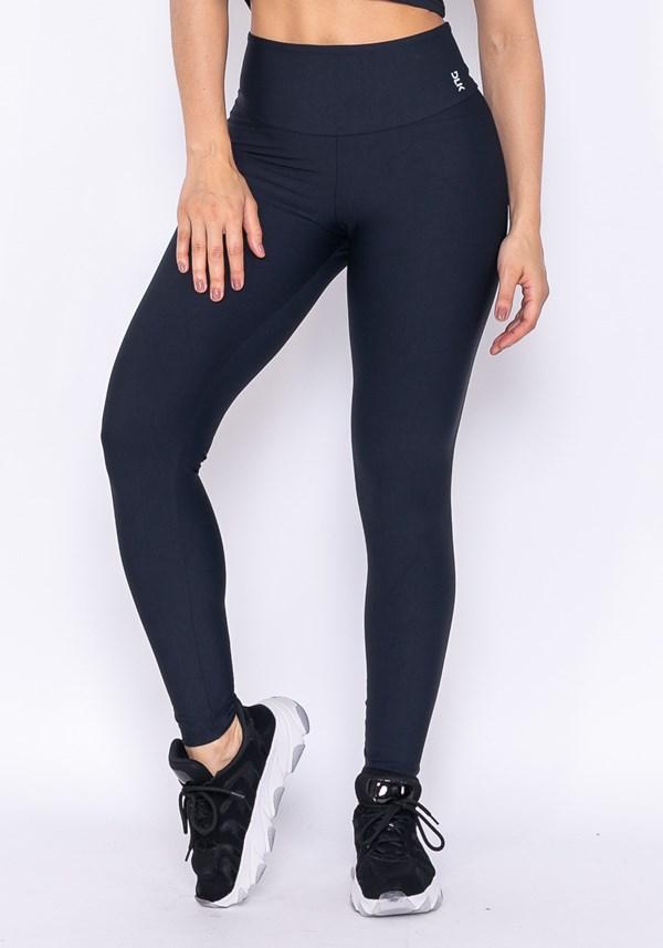 Calça legging cós alto technology preta