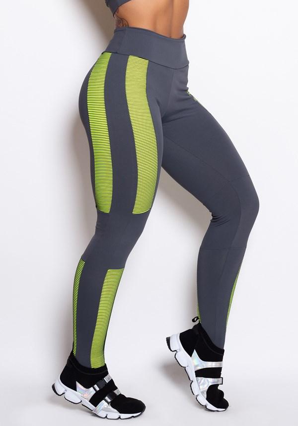 Calça legging double illusion neon