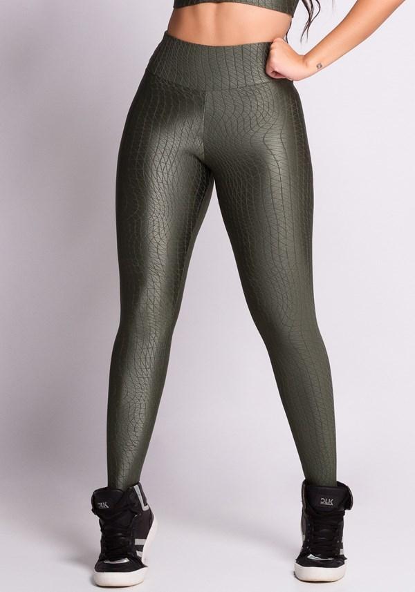 Calça legging embroidary green angle