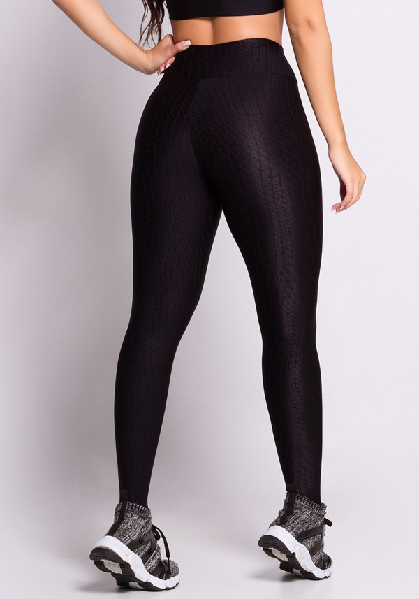 Calça legging embroidery black angle