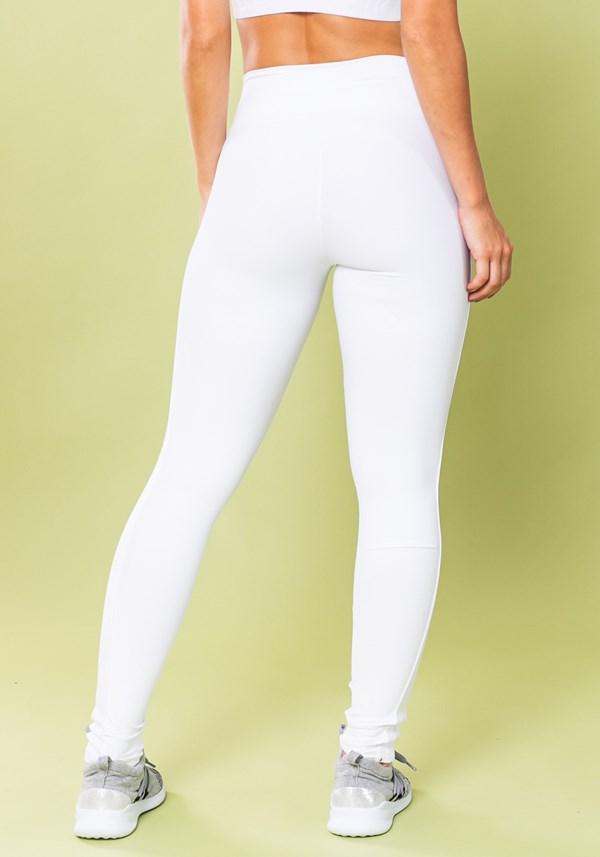 Calça legging energy com elástico lateral branca